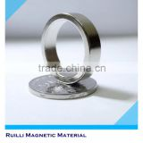 Custom promotional permanent strong ndfeb neodymium diametrically magnetized ring magnets