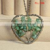 wholesale Green Aventurine Jewelry family tree necklace