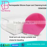 Factory price electric silicon sonic vibration face wash facial cleansing brush for wholesale