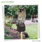 motion activated Bird Repelling Owl Statue