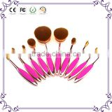 Classic rose gold Tooth Brush Style 10PCS private label Makeup brush set/cosmetics Oval BB Cream Foundation makeup Brushes