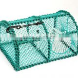 Stainless steel frame Nylon netting lobster trap