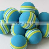 2015 New Design Rainbow Practice Sponge Golf Balls