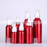Wholesale 30ml -500ml red empty aluminum spray bottle water mist spray bottle for cosmetic packaging