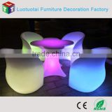 PE plastic cordless LED Sofa chair LED light up chair for TV furniture /home /nightclub bar/party