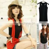 HOT Women's Lady Black Tank Top Sweet Girl Vest Sleeveless Elastic Sexy T-shirts