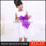 MGOO Top Quality Stock Brand Ball Gown 3 Years Old Dresses Pagent Dress Blue For Girl Children A1040