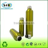 New design double wall stainless steel vacuum cola shape thermos bottle bowling ball water bottle