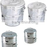 Dressing Drum, Sterilizing Drums Hollow Wares, CE Certified Stainless Steel Dressing drum