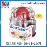 "9""transparent plastic flashing bowling toys"