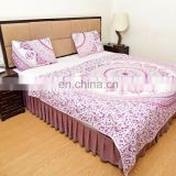 Indian Latest Cotton Ombre Mandala Quilted Blanket Comforter Queen Size Reversible Duvet Set Bedding Set