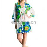 Indian Designer Cotton Kurt Tunic western dress latest fashion tunics For Summer Brazil