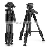 MACTREM PT55 Aluminum Alloy + ABS Camera Tripod with 3 Way 360 Degree Panhead for Canon for Nikon