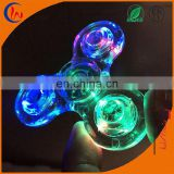 2017 most sold tri crystal hand spiner led fidget spinner toy with EN71