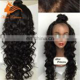 Natural Color Long Hair China Sex Woman Wig 130% Density Body Wave Mono Filament wig Mongolian Hair Lace Front Box Braid Wig