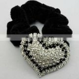 Hot rhinestone crystal heart elastic hair band accessories