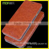 MOFi RUI Series PU Leather Flip Cover for Samsung GALAXY A3 2016, Mobile phone Case for Samsung GALAXY A3 2016