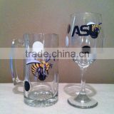 large printing bee beer glass mug