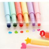 Pronotional candy color seal fluorescent pen , multi color marker pen