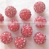 4mm 6mm 8mm 10mm 12mm 14mm Shamballa Clay Beads Loose CZ Rhinestones Pave Beads Roseo Color