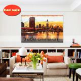 Wholesale stretched abstract no glass painting natural scenery canvas picture frame oil painting YB-139