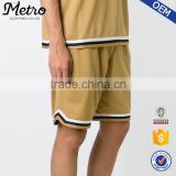 Custom youth basketball mesh shorts with stripe detail