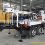 HF150T Trailer Mounted DTH Hammer Water Well Drilling Rig                                                                         Quality Choice