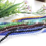 2016 shiny crystal beads beading round facted rondelle beads 4 6 8 10 12 clear color glass bead
