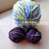 mixed rainbow colors cotton ball string
