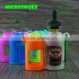 Alibaba China e liquid bottle with e liquid glass droppers silicone case/skin/sleeve/cover/box for 30ml black e liquid bottles