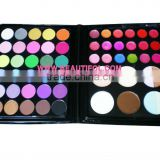 Combo 30 color makeup eyeshadow + 18 lip gloss + 8 concealer, OEM cosmetics eyeshadows make up palette for ladies