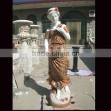 Beautiful lady stone sculpture for garden decoration