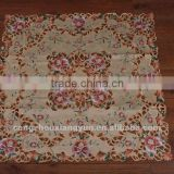 Custom cheap price polyester satin new product home textile satin embroidery Table Cloth