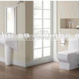one piece toilet antique sanitary ware , toilet basin bidet in colorful planting                                                                         Quality Choice
