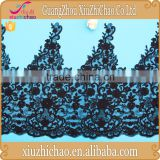 ZP0022-TK( 6.3) High quality best price fancy embroidered black net lace fabric for bridal dresses