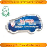 promotional clear custom blank plastic photo frame key chain picture insert logo car shape keyring