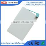 Popular power bank credit card Mobile accessories usb power bank phone battery charger