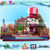 interesting circus inflatable playground, inflatable fun city, inflatable amusement fun park for kids