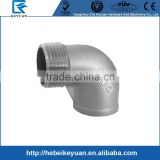 "Pipe SS304 Pipe Fitting, Class 150, Cast Stainless Steel Grade 304, 90 Degree Street Elbow, 1/2"" NPT Female x Male Threads"