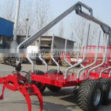 Orignal Mufacturer From China!!12 ton log trailer with crane, timer trailer with crane ZM12006,12 ton model log loader grapple
