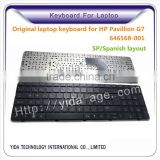 Spanish layout Laptop Keyboard for HP Pavilion G7 Series 646568-001