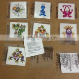 customized lovely cartoon design temporary tattoo supply for kids