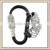 3 Digits Carabiner Padlock, Big Size Carabiner Combination Lock with Rope