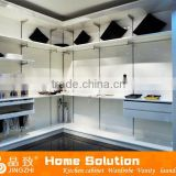 High-end customized high gloss lacquer bedroom furniture cabinet design closet wardrobes JZ-001WC