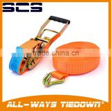 Ratchet Tie Down Strap/Cargo Lashing Strap Belt with 100% Polyester webbing                                                                                         Most Popular
