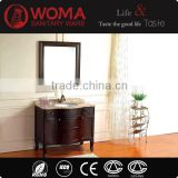 Brown Solid wood Bathroom Floor Cabinet Wash basin Oak Wood Bathroom Furniture Single basin cabinet No.3045A