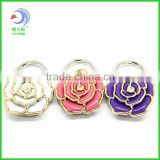 Wholesale - Nice Foldable Rose Flower Crystal Metal Bag Hanger Purse Hook Gift Accessories(LD-54)