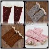 Hot a lot crochet kids elastic leg warmer with warmer knit leg warmer