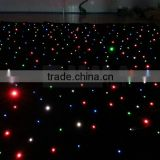 Fireproof LED RGB Star Curtain,LED RGB star curtain 2*3M,LED curtain together with laser show