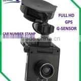 Built-in GPS vehicle drive recorder 1080p video recorder G-sensor car video gps recorder